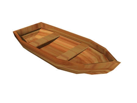 Photo pour old rowboat floats in the water - image libre de droit