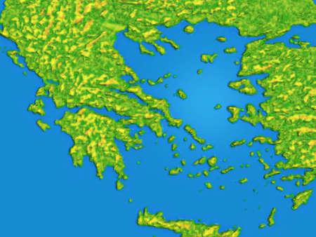 Photo pour Map with continents and water - image libre de droit