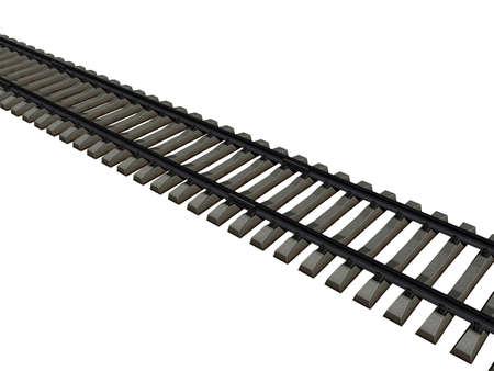 Photo pour Rail track with sills as a route - image libre de droit