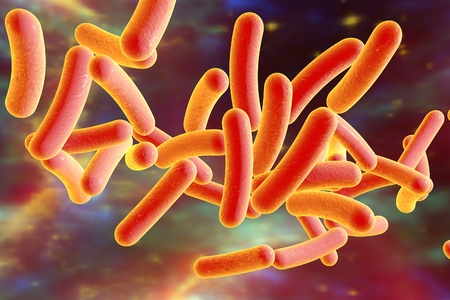 Bacterium Legionella pneumophila on surrealistic space background, model of bacteria, microbes, microorganisms, bacterium causes Legionnaires disease. Elements of this image furnished by NASA