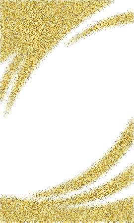 Template for banner, flyer, save the date, birthday party or other invitation with gold background. Gold glitter card design. vector illustration design template.