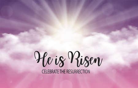 Foto per He is risen. - Immagine Royalty Free