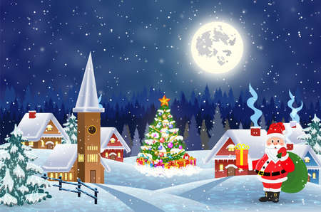 Illustration pour Merry Christmas and Happy New Year card design. - image libre de droit
