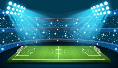 Ilustración de Soccer game Vector Stadium - Imagen libre de derechos