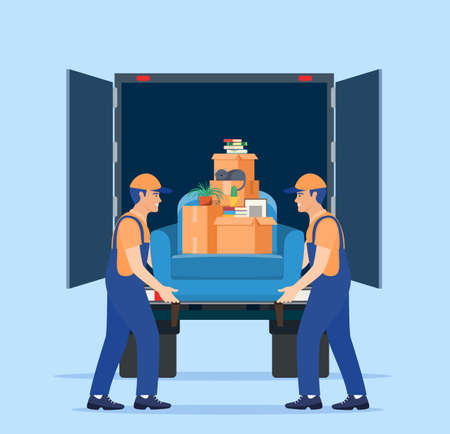 Illustration for Moving service and delivery company - Royalty Free Image