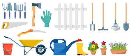 Illustration for Set of garden tools. - Royalty Free Image