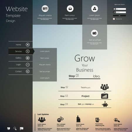 Illustration pour Design of the menu for a website. Creative web design - image libre de droit