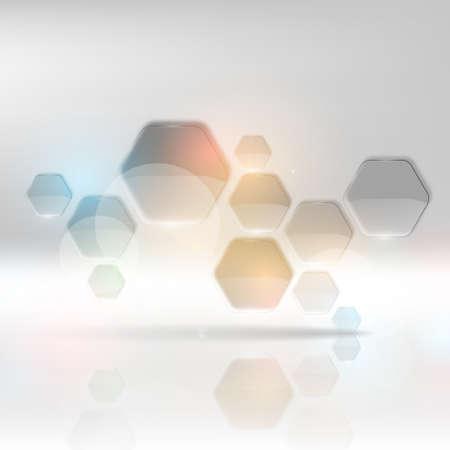 Modern Hexagon Design - Business background.