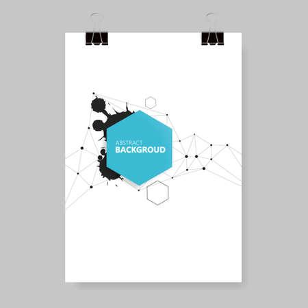 Illustration pour Vector poster design template. Multi-purpose use flyer - a music festival, art exhibition, business brochure, cover. A4 size. - image libre de droit