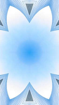 Vertical frame Copy space inside of angular metal fractal