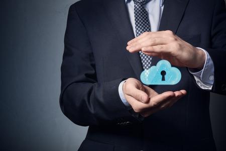 Photo pour Data Chronology. Security of personal data. Data clouding. - image libre de droit