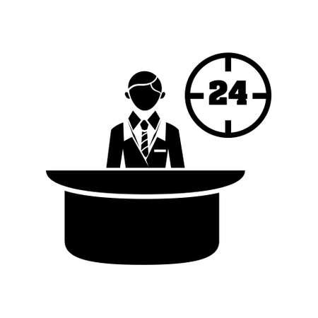 reception desk icon