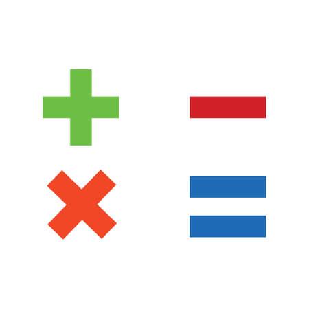 Illustration pour vector Calculator symbol - mathematics illustration sign isolated - image libre de droit