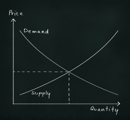 deaman supply graph drawing on chalkboard