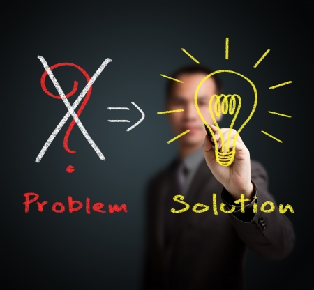 business man eliminate problem and find solution