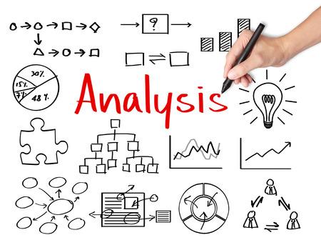 business hand writing data analysis