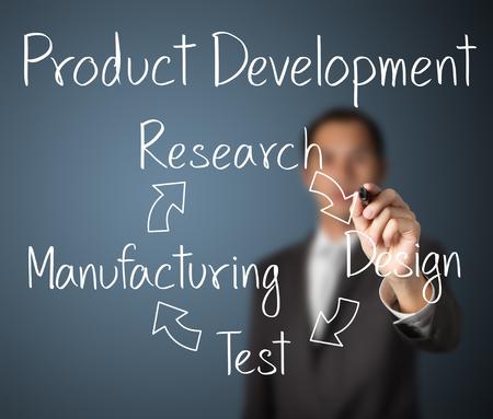 Photo pour business man writing product development concept - image libre de droit