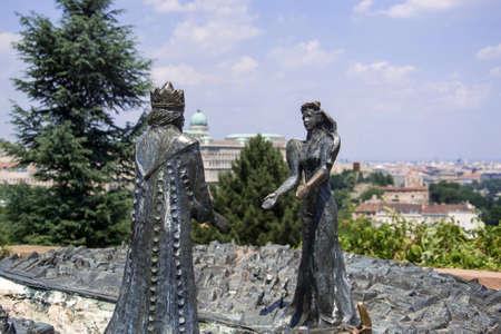 Statue of Prince Buda and Princess Pest