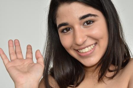 Friendly Pretty Teen Girl