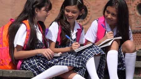 Kids Wearing School Uniforms