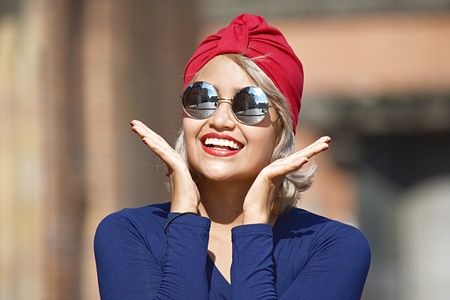 Attractive Muslim Woman And Happiness