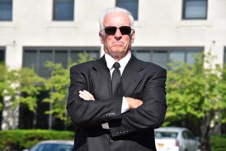 Successful Adult Senior Male Politician Wearing Suit