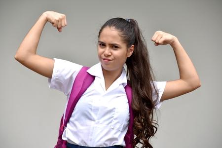 Strong Catholic Person Wearing School Uniform