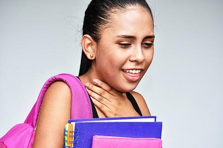 Teenager School Girl And Illness
