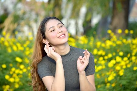Lucky Attractive Minority Female