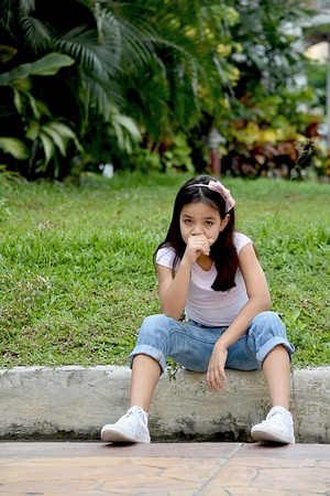 A Minority Female Coughing