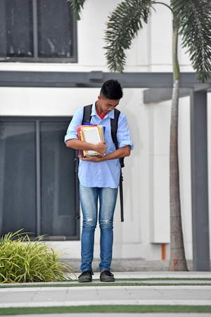 High School Student On Campus