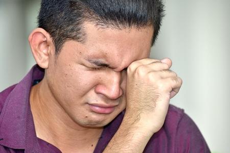 Photo pour Crying Young Minority Person - image libre de droit