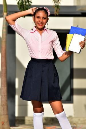 Posing Asian School Girl