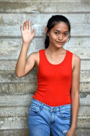 An A Friendly Teenager Girl