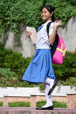 An A Friendly Girl Student