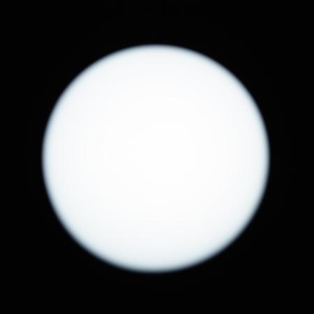 Luminous white sphere on a dark background