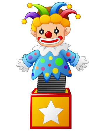 clown jumping out from a box