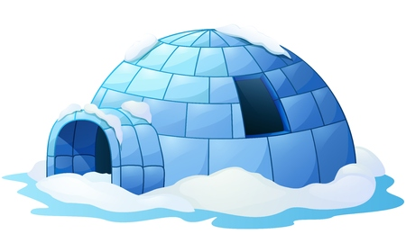 Illustration pour Igloo isolated a white background - image libre de droit