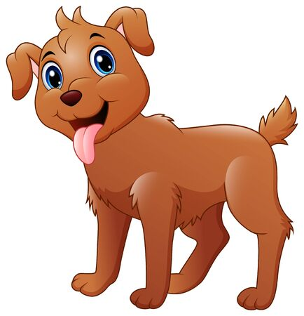 Illustration pour Funny dog cartoon - image libre de droit