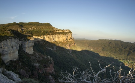 dusk at the beautiful tavetet in catalyna, spain