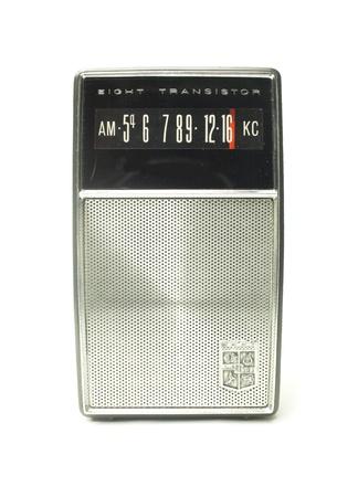 a vintage small portable AM transistor radio