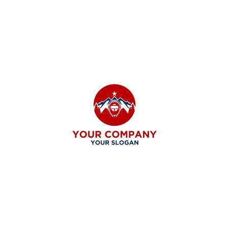 Umpire Mountain Logo Design Vector