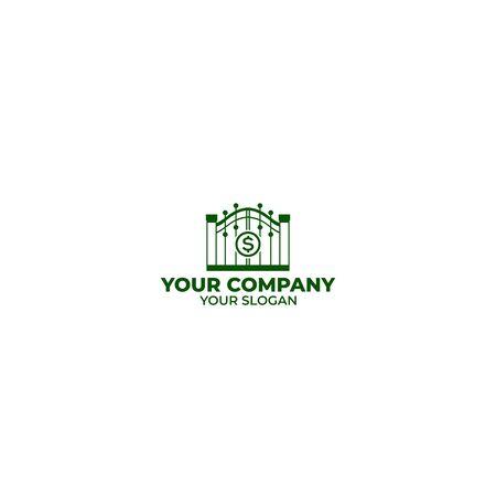 Gate Money Logo Design Vector Royalty Free Vector Graphics