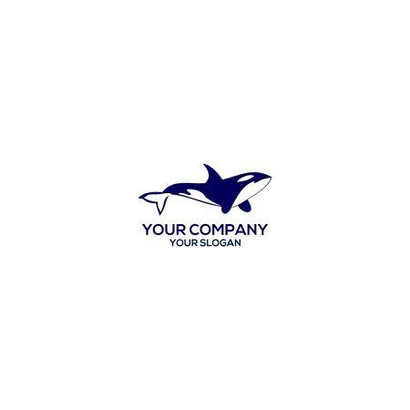 Illustration pour Blue Orca Logo Design Vector - image libre de droit