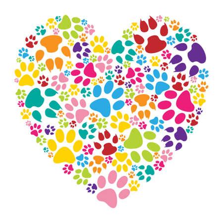 Ilustración de Heart paw print - Imagen libre de derechos