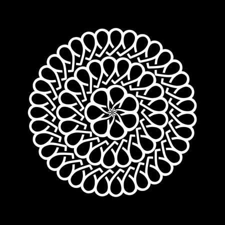 Illustration pour Decorative abstract circles. Illustration of decorative abstract circles on a black background - image libre de droit