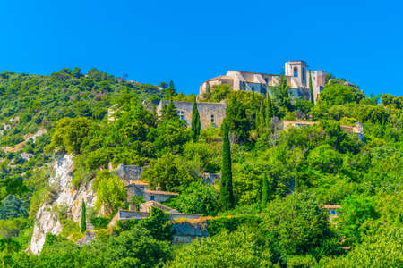 Oppede le Vieux, a village perched on a cliff in Luberon region, France