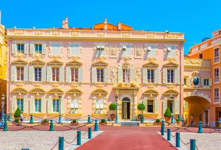 Historical buildings on Place du Palais in Monaco