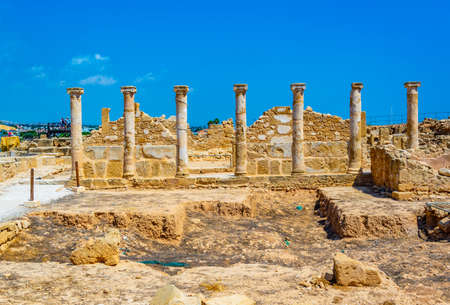 Foto de Ruins of Theseus house at Paphos Archaeological Park on Cyprus - Imagen libre de derechos