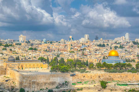 Photo for Jerusalem viewed from the mount of olives, Israel - Royalty Free Image